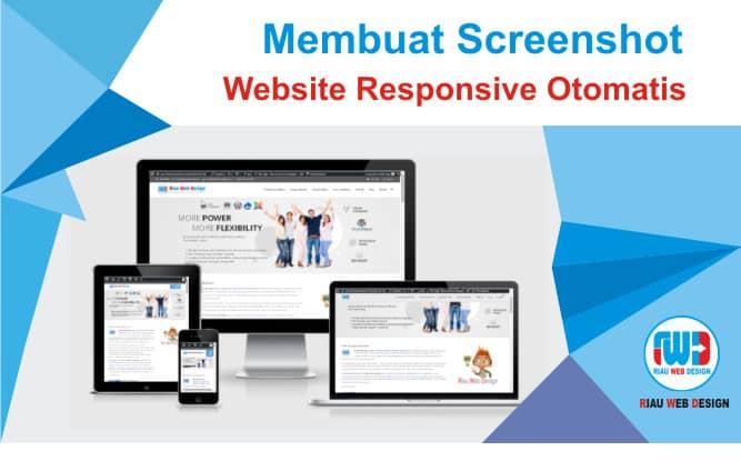 Membuat Screenshot Website Responsive Otomatis