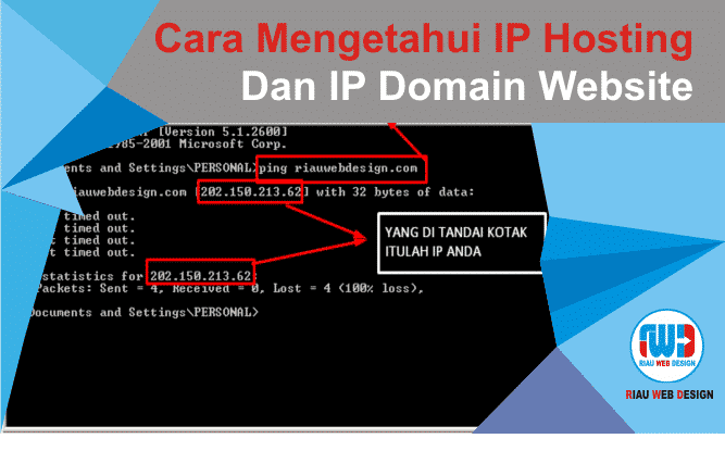Cara Mengetahui IP Hosting Dan IP Domain Website